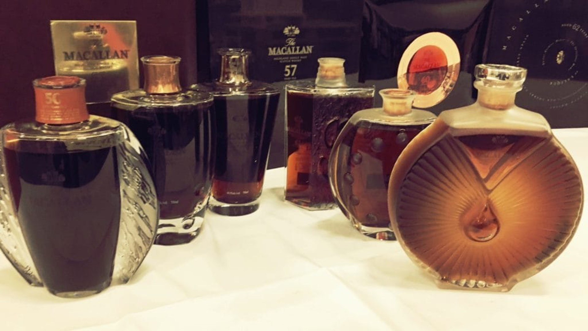 Macallan Lalique Legacy Collection bottles
